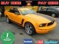 2007 Grabber Orange Ford Mustang V6 Deluxe Convertible  photo #1