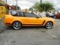 2007 Grabber Orange Ford Mustang V6 Deluxe Convertible  photo #11