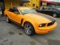 2007 Grabber Orange Ford Mustang V6 Deluxe Convertible  photo #14