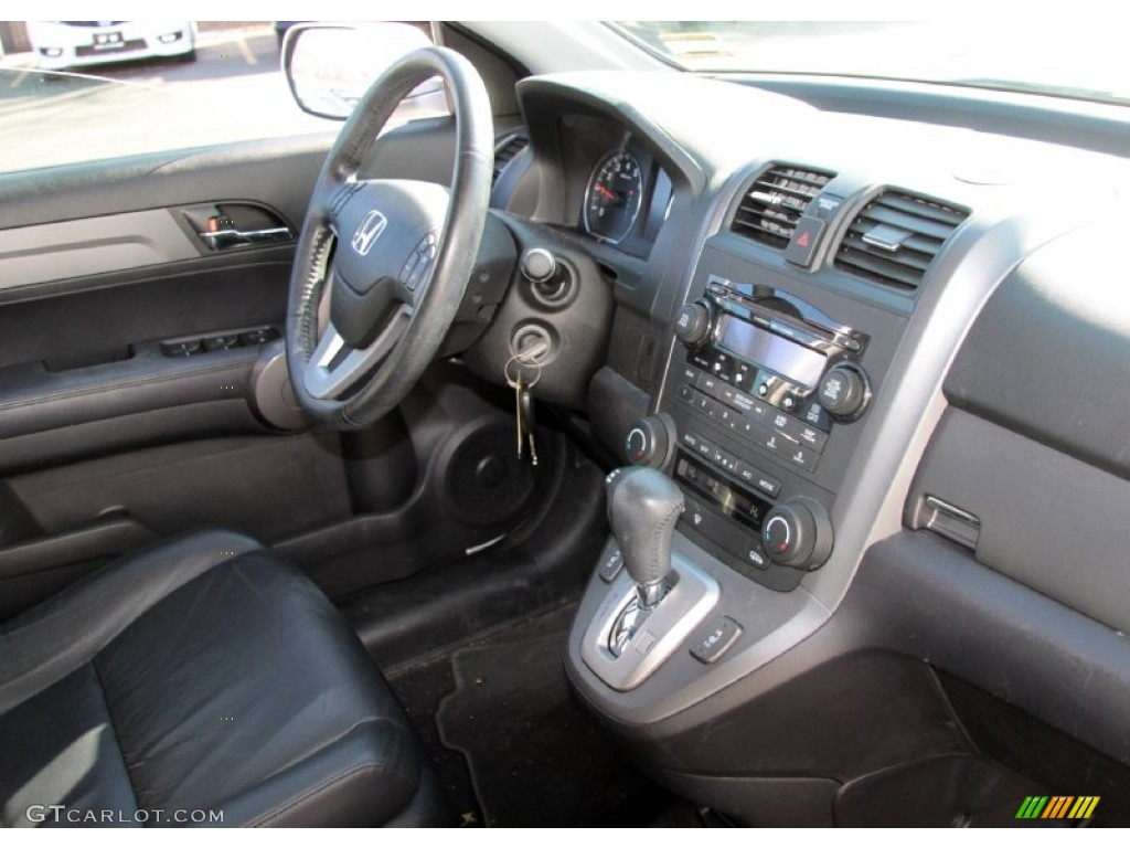 2009 CR-V EX-L 4WD - Alabaster Silver Metallic / Black photo #5