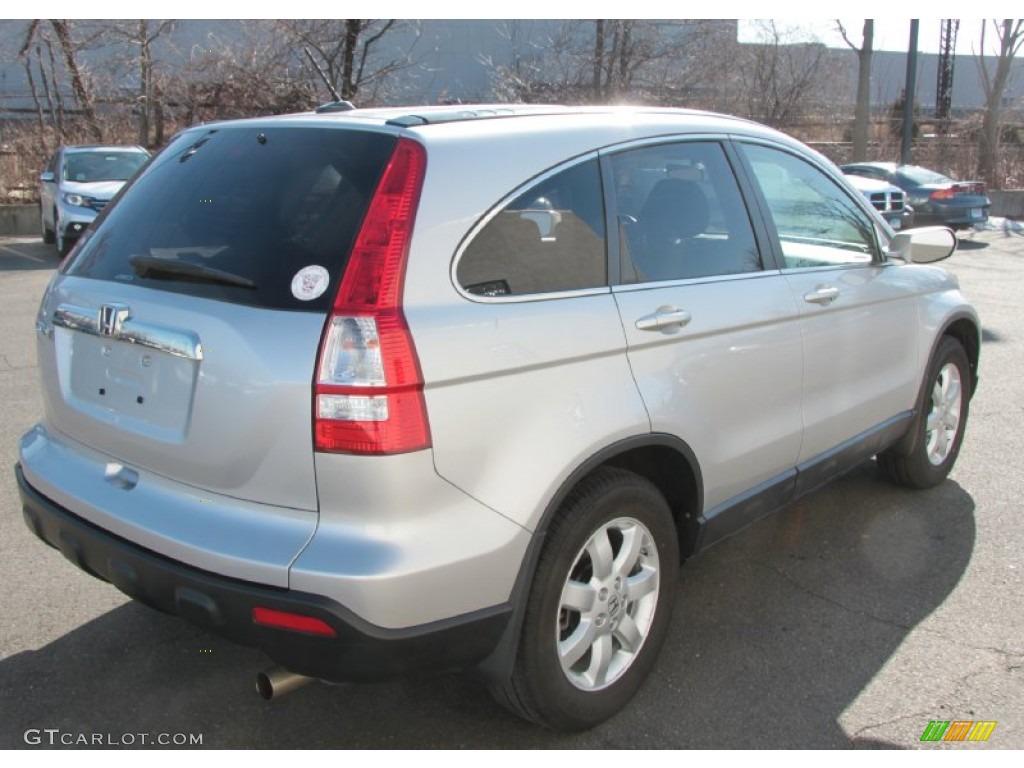 2009 CR-V EX-L 4WD - Alabaster Silver Metallic / Black photo #6