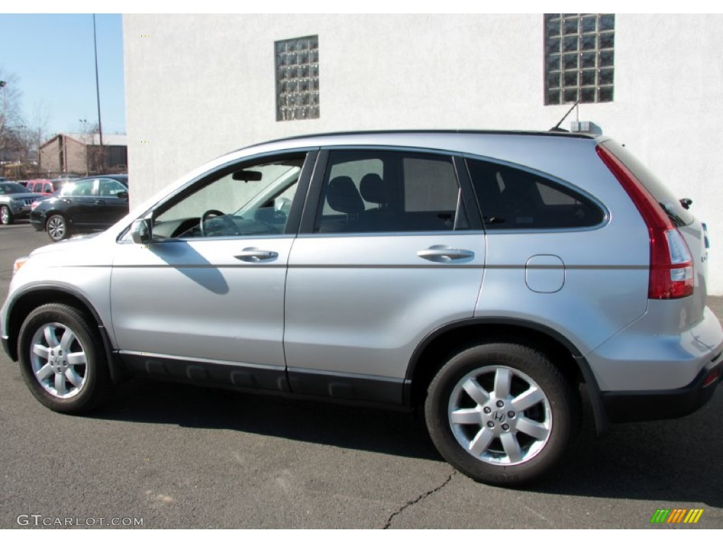 2009 CR-V EX-L 4WD - Alabaster Silver Metallic / Black photo #10