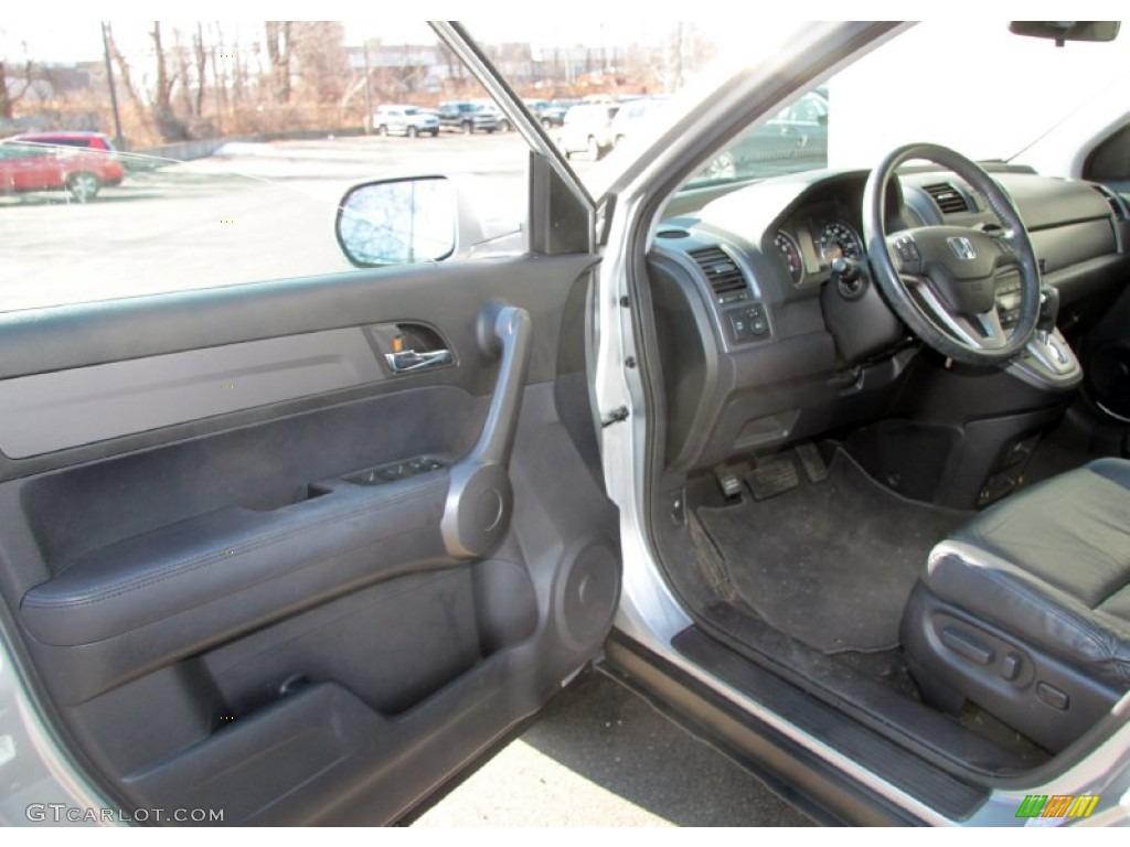 2009 CR-V EX-L 4WD - Alabaster Silver Metallic / Black photo #12