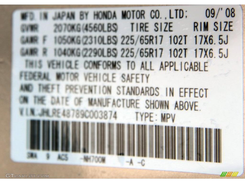 2009 CR-V EX-L 4WD - Alabaster Silver Metallic / Black photo #24
