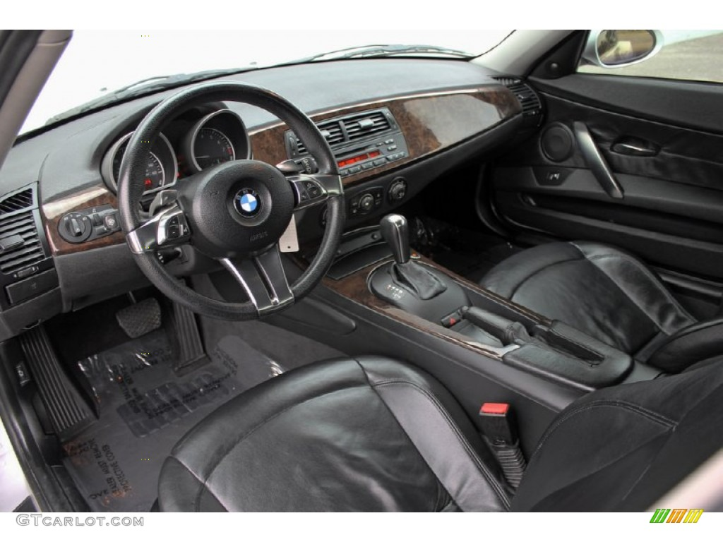 Black Interior 2006 Bmw Z4 3 0si Coupe Photo 60889180