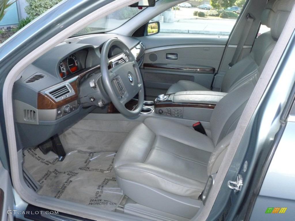 Basalt Grey Stone Green Interior 2003 BMW 7 Series 745Li Sedan Photo 60899134