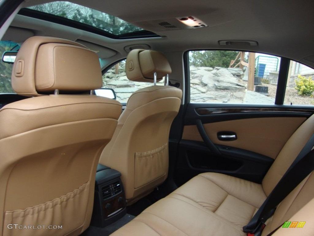 Natural brown dakota leather interior 2009 bmw 5 series 528xi sedan photo 60901804