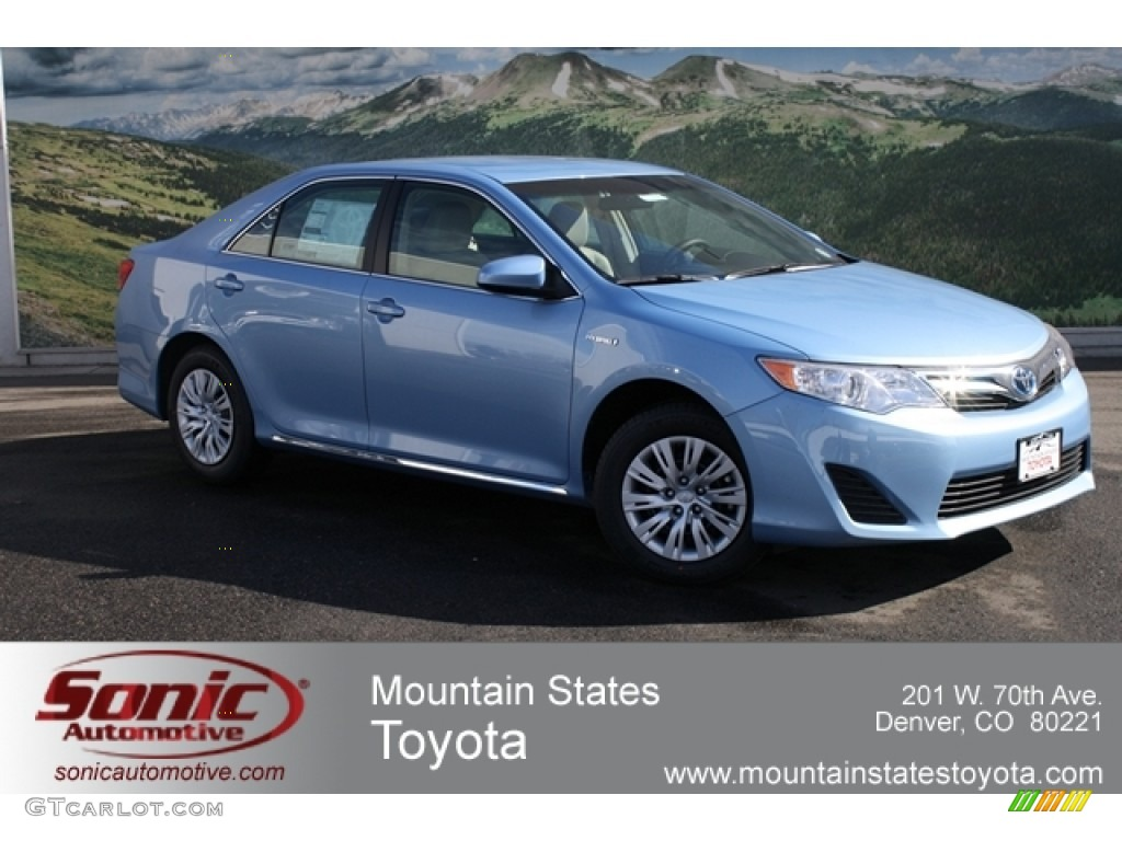 2012 clearwater blue metallic toyota camry hybrid le 60907283 car color galleries. Black Bedroom Furniture Sets. Home Design Ideas