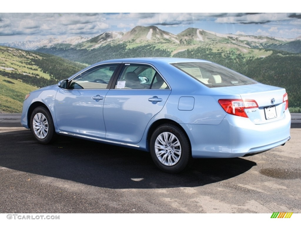 2012 clearwater blue metallic toyota camry hybrid le 60907283 photo 3 car. Black Bedroom Furniture Sets. Home Design Ideas