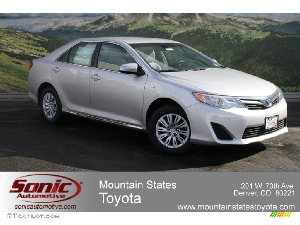 2012 classic silver metallic toyota camry hybrid le 60907280 car color galleries. Black Bedroom Furniture Sets. Home Design Ideas
