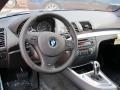 2012 BMW 1 Series Black Interior Dashboard Photo
