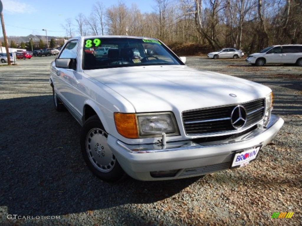1989 white mercedes benz s class 560 sec coupe 60934877 for Mercedes benz s class colours
