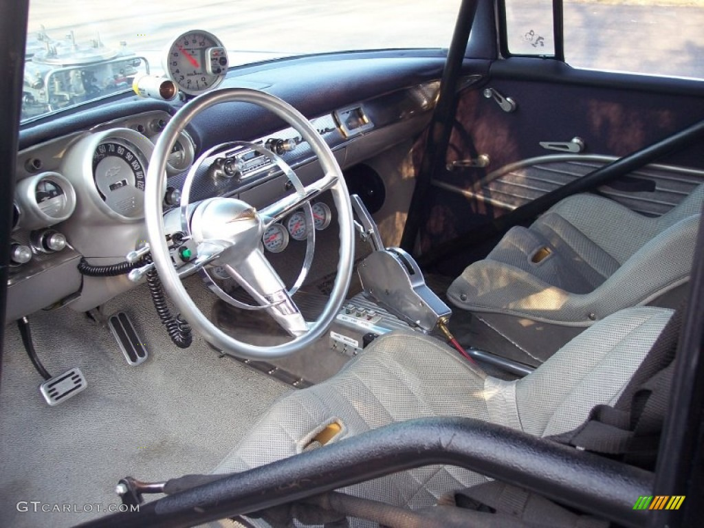 Grey Interior 1957 Chevrolet Bel Air Pro Street Hard Top