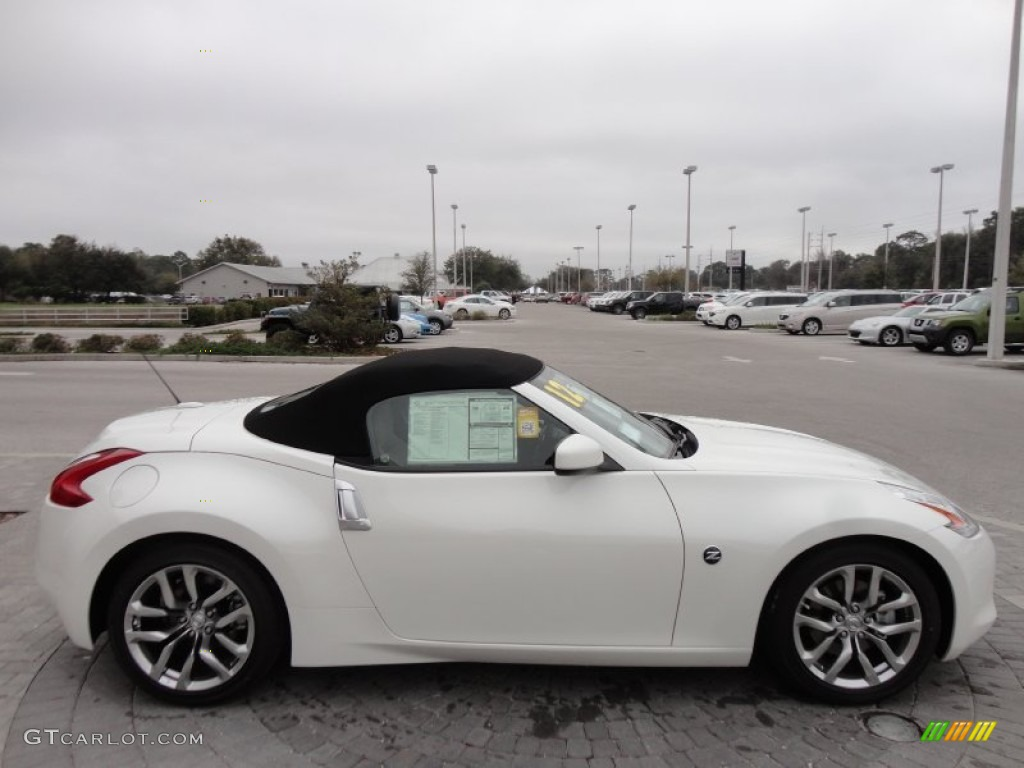 Pearl White 2012 Nissan 370z Touring Roadster Exterior
