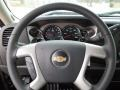 2011 Chevrolet Silverado 1500 Ebony Interior Steering Wheel Photo