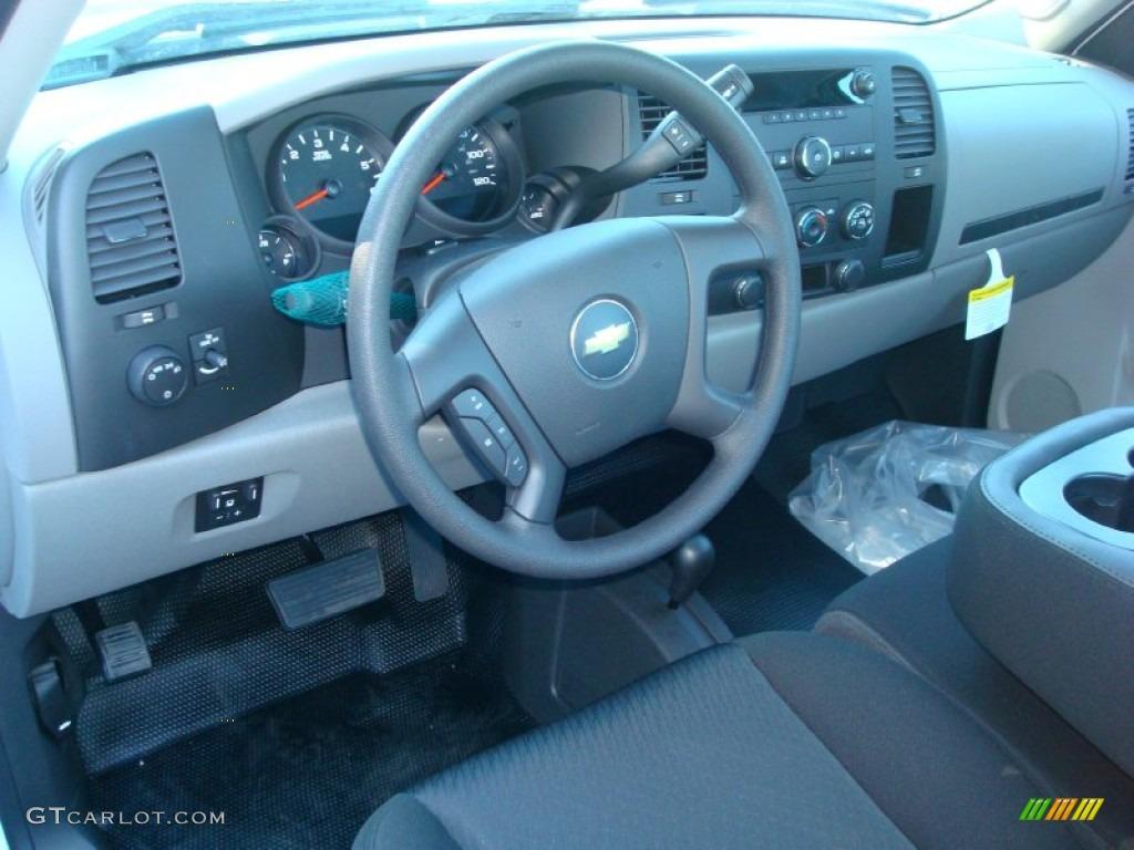 2012 Silverado 1500 Work Truck Regular Cab 4x4 - Summit White / Dark Titanium photo #4