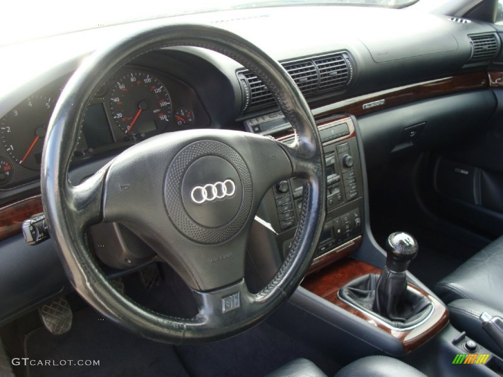 2001 audi a4 2 8 quattro sedan onyx steering wheel photo. Black Bedroom Furniture Sets. Home Design Ideas