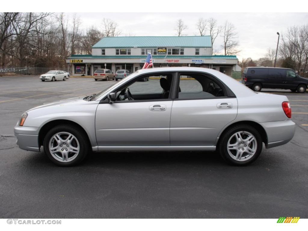 Platinum Silver Metallic 2005 Subaru Impreza 2 5 Rs Sedan
