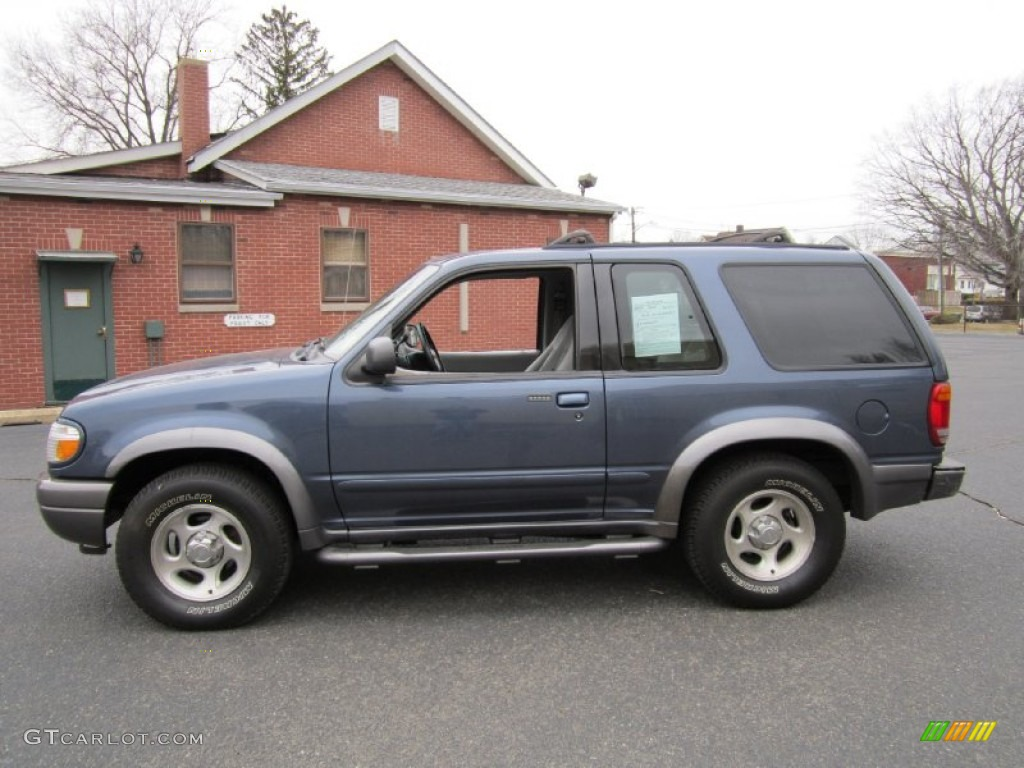 medium wedgewood blue metallic 2000 ford explorer sport 4x4 exterior. Cars Review. Best American Auto & Cars Review