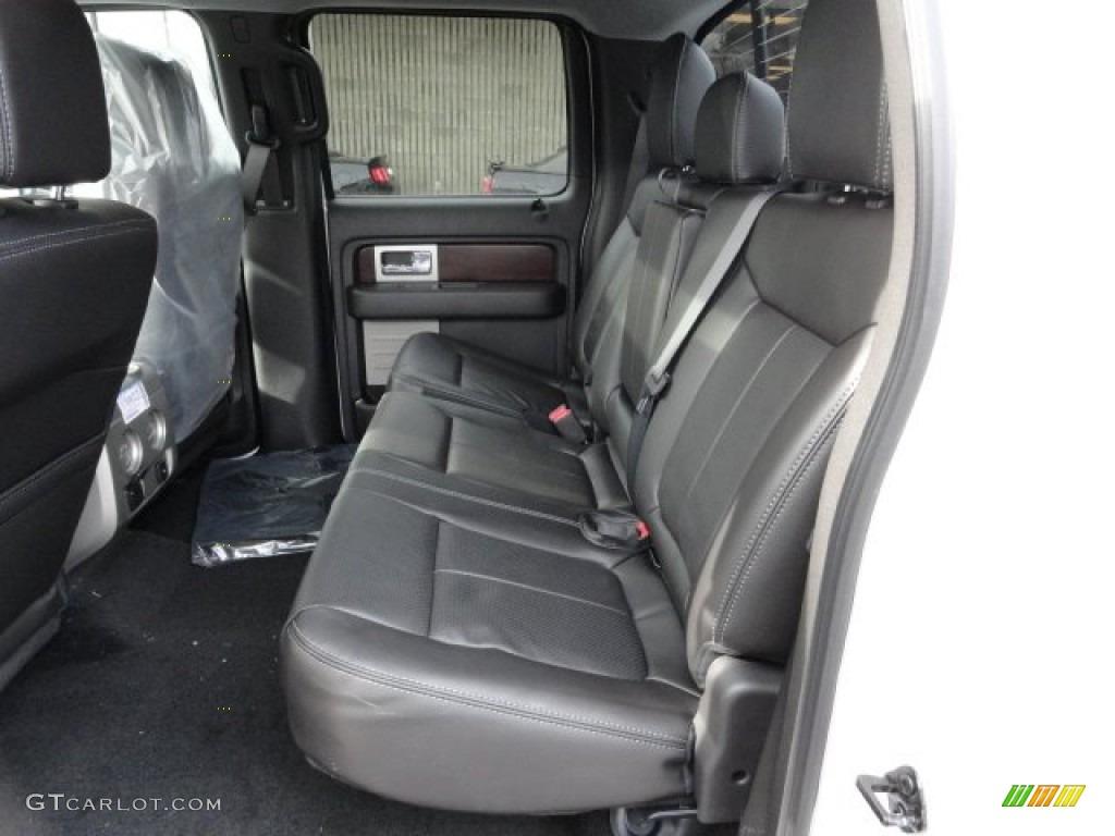 Black Interior 2012 Ford F150 Lariat Supercrew 4x4 Photo 61002526