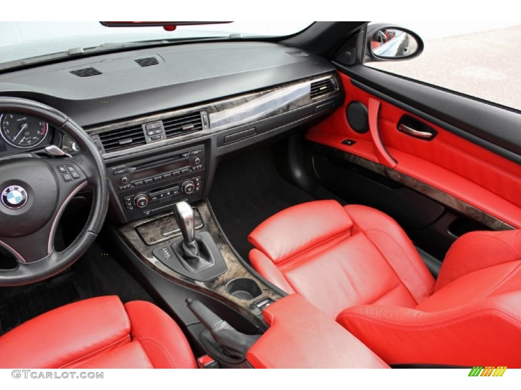 coral red black interior 2007 bmw 3 series 335i convertible photo 61016461