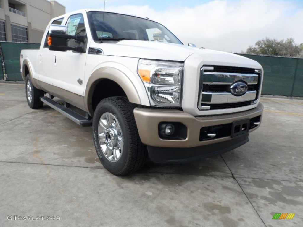 2012 white platinum metallic tri coat ford f250 super duty king ranch crew cab 4x4 60973411. Black Bedroom Furniture Sets. Home Design Ideas