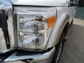 2012 White Platinum Metallic Tri-Coat Ford F250 Super Duty Lariat Crew Cab 4x4  photo #9