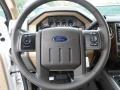 2012 White Platinum Metallic Tri-Coat Ford F250 Super Duty Lariat Crew Cab 4x4  photo #38