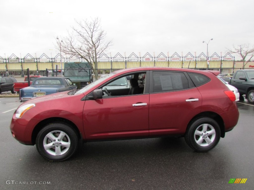 Attractive Venom Red 2010 Nissan Rogue S AWD 360 Value Package Exterior Photo #61043968