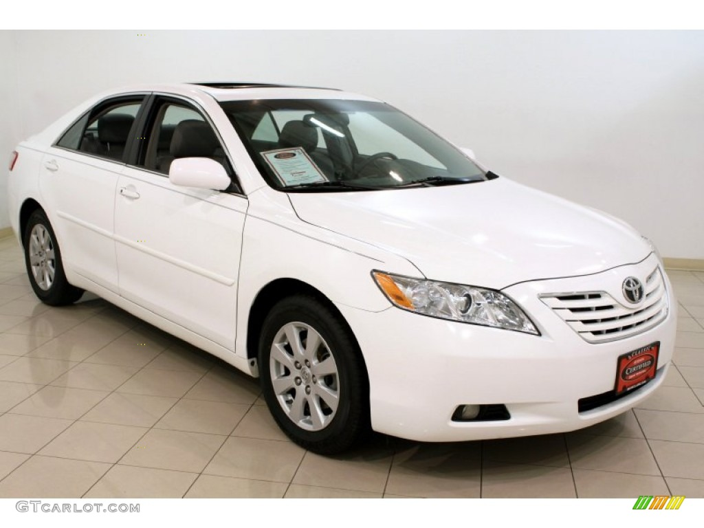 2009 super white toyota camry xle v6 61027129 car color galleries. Black Bedroom Furniture Sets. Home Design Ideas
