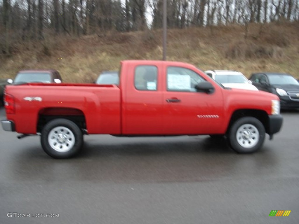 2012 Silverado 1500 Work Truck Extended Cab 4x4 - Victory Red / Dark Titanium photo #1