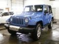 2011 Cosmos Blue Jeep Wrangler Sahara 4x4  photo #2