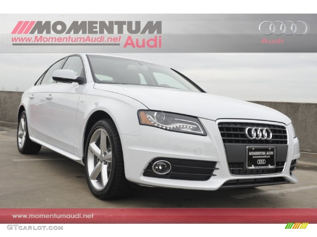2012 A4 2.0T Sedan - Glacier White Metallic / Cardamom Beige photo #1