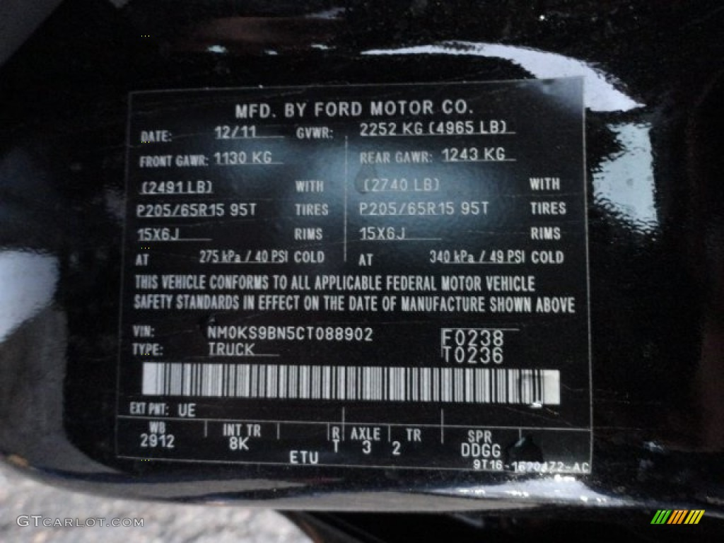Ford Transit Paint Code White