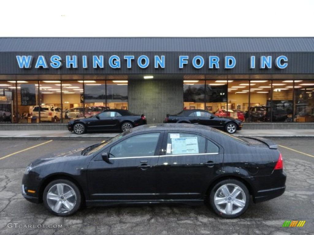 2012 Tuxedo Black Metallic Ford Fusion Sport Awd 61074793 Gtcarlot Com Car Color Galleries