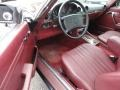 1987 SL Class 560 SL Roadster Red Interior