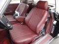 Front Seat of 1987 SL Class 560 SL Roadster