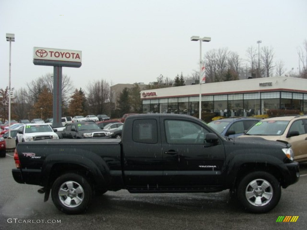 Amazing 2008 Tacoma V6 TRD Sport Access Cab 4x4   Black Sand Pearl / Graphite Gray  Photo