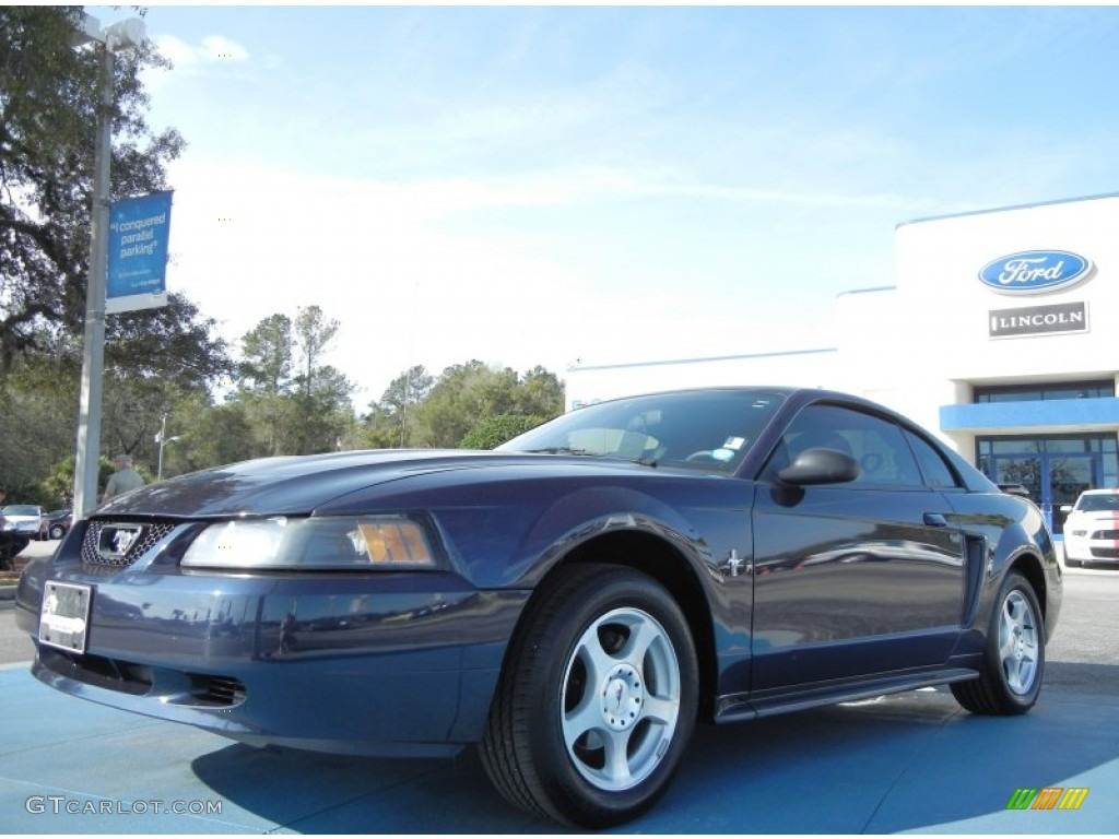 2003 Mustang V6 Coupe - True Blue Metallic / Medium Graphite photo #1