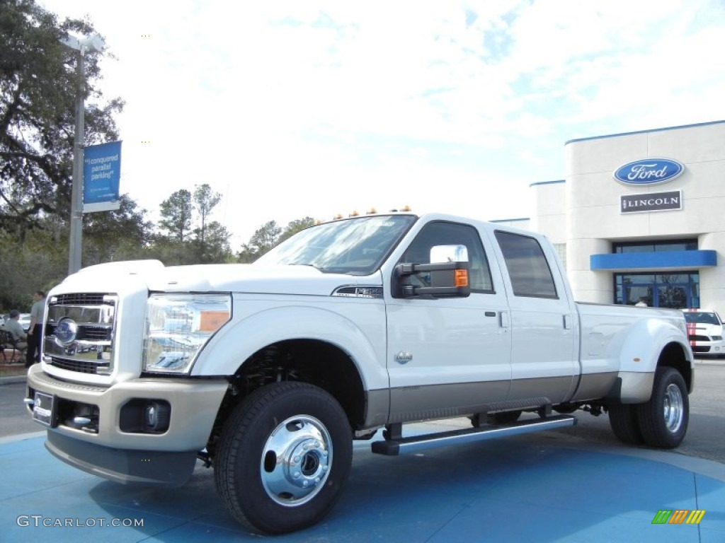 2012 white platinum metallic tri coat ford f350 super duty king ranch crew cab 4x4 dually. Black Bedroom Furniture Sets. Home Design Ideas