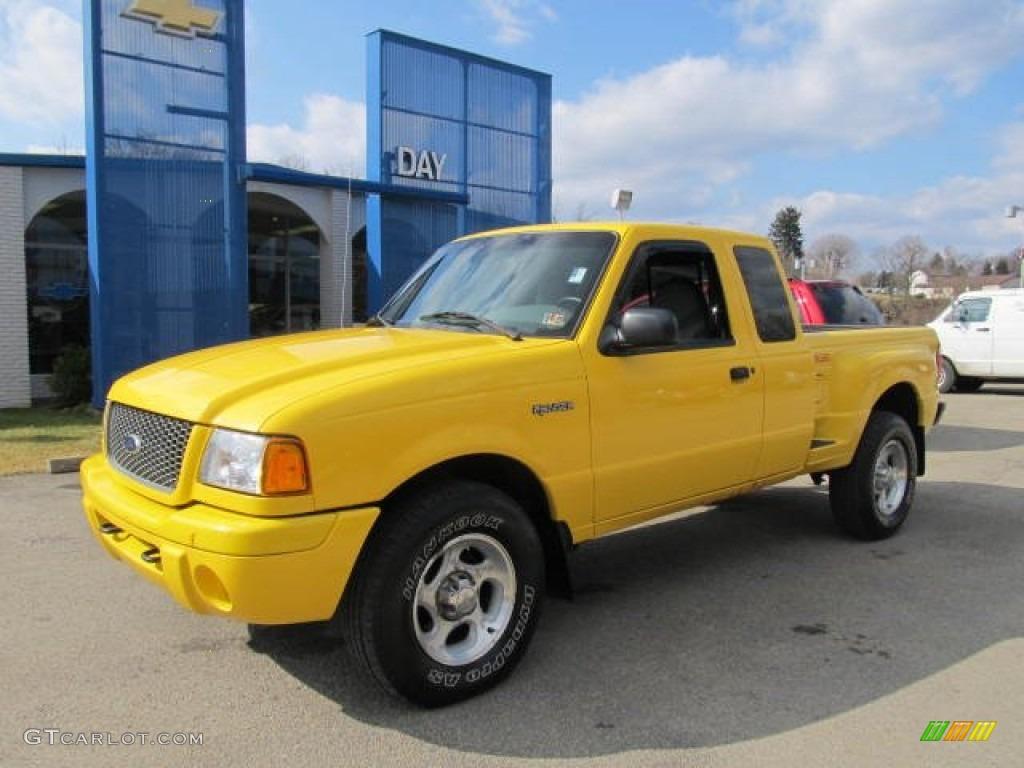 Chrome yellow ford ranger