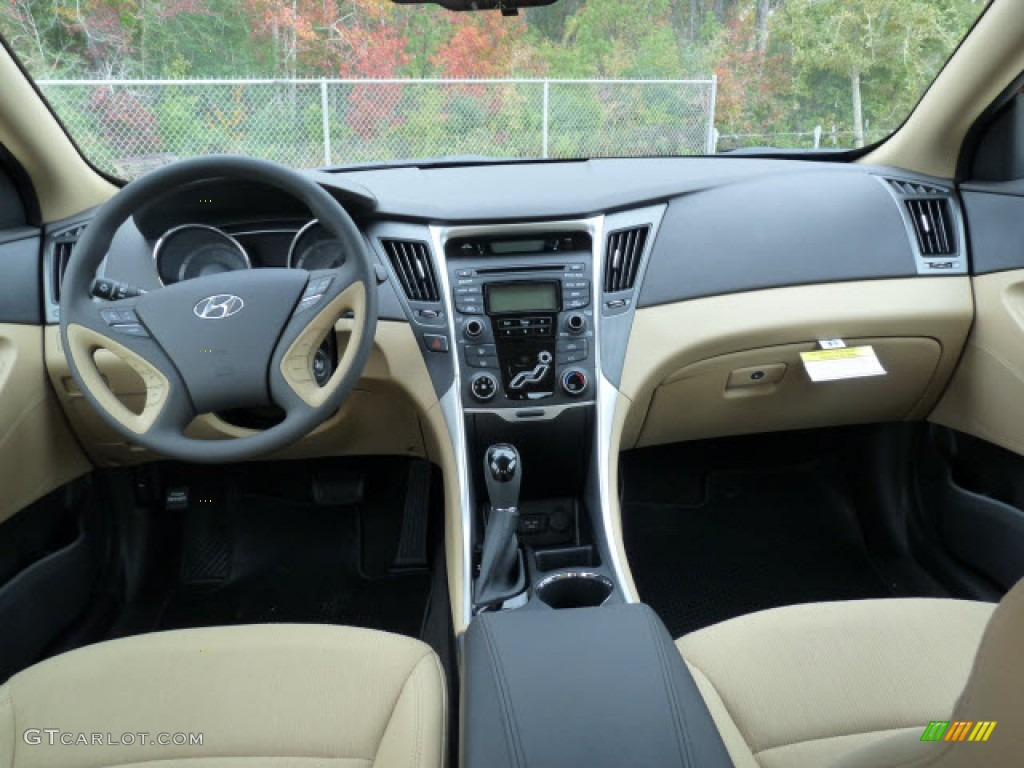 2012 Hyundai Sonata Gls Camel Dashboard Photo 61136755