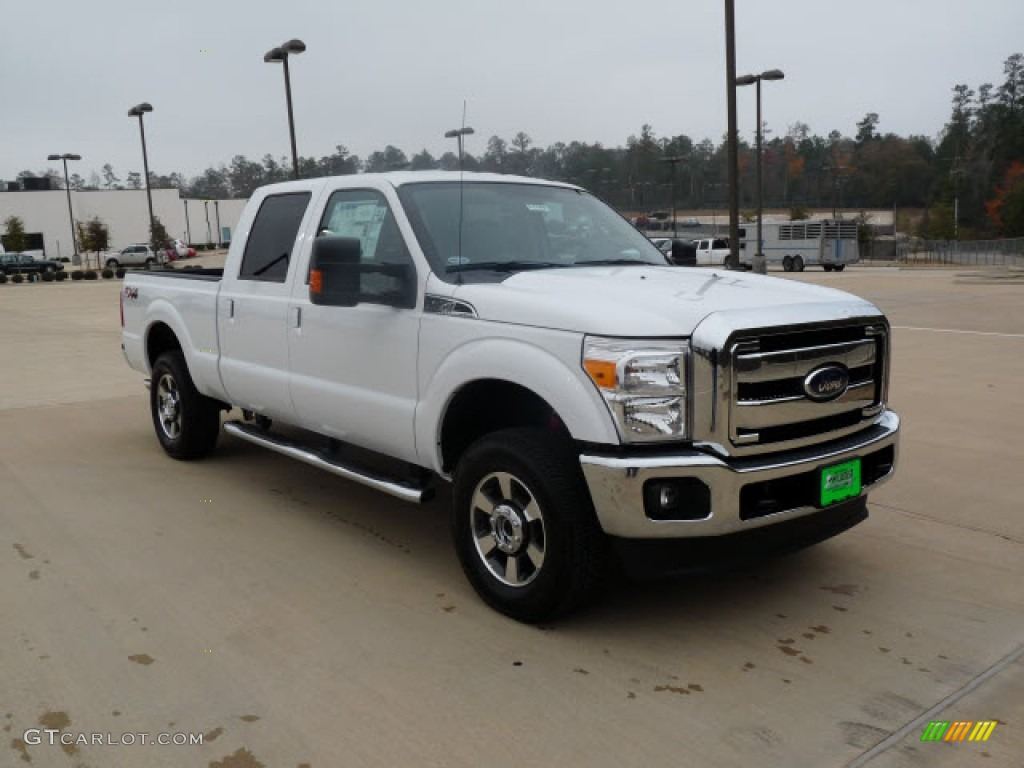 2012 Oxford White Ford F250 Super Duty Lariat Crew Cab 4x4 #61113712 | GTCarLot.com - Car Color ...
