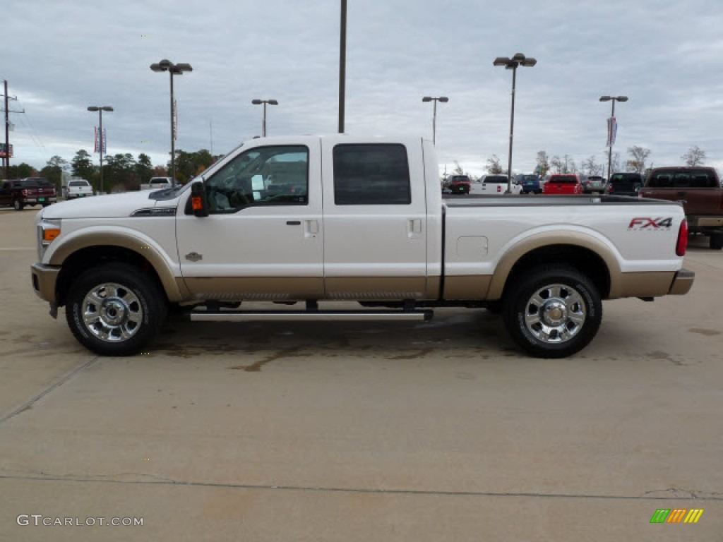 Lifted Ford F250 For Sale White Platinum Metallic Tri-Coat 2012 Ford F250 Super Duty ...