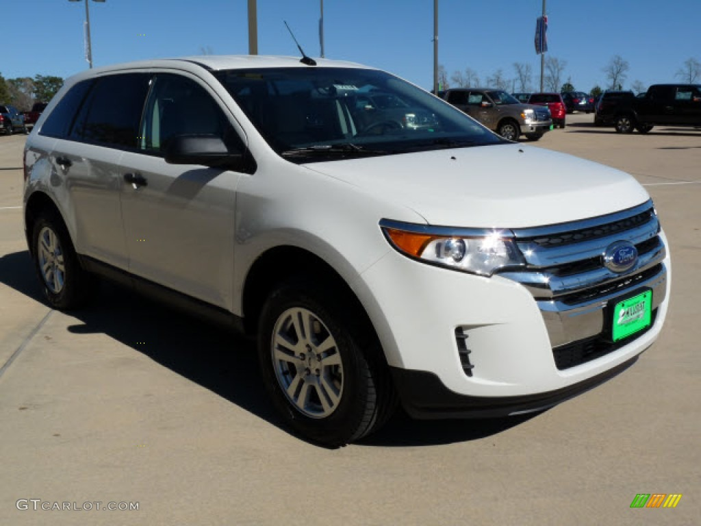 White Suede Ford Edge