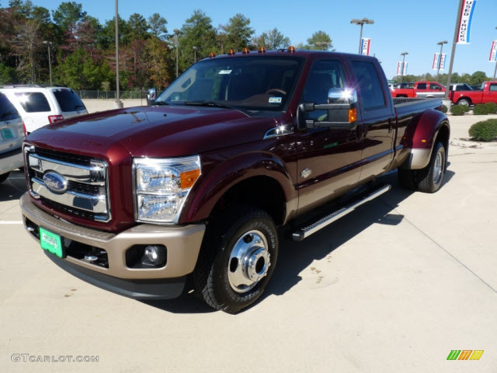 2012 f350 super duty king ranch crew cab 4x4 dually autumn red chaparral leather