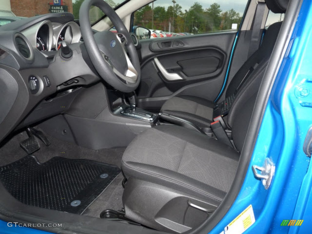 Charcoal Black Interior 2012 Ford Fiesta Se Hatchback Photo 61143980