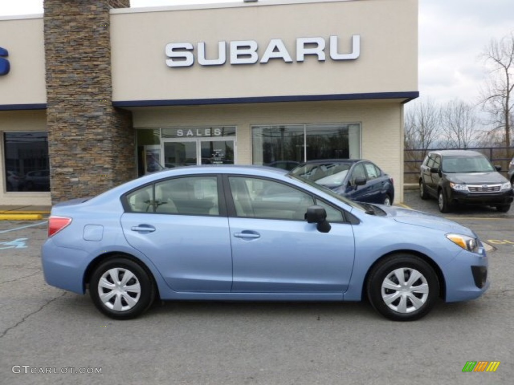 Sky Blue Metallic 2012 Subaru Impreza 2 0i 4 Door Exterior