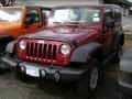 2012 Deep Cherry Red Crystal Pearl Jeep Wrangler Sport 4x4  photo #1