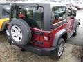 2012 Deep Cherry Red Crystal Pearl Jeep Wrangler Sport 4x4  photo #2